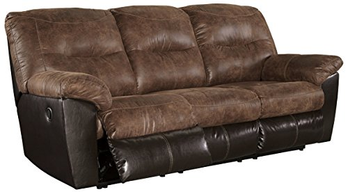 Ashley Furniture Signature Design - Follett Overstuffed Upholstered Reclining Sofa - Contemporary - - Contemporary Reclining Sofa