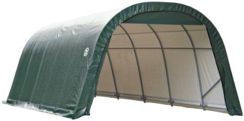 Storage Green Shelter - ShelterLogic 72342 Green 12'x24'x8' Round Style Shelter
