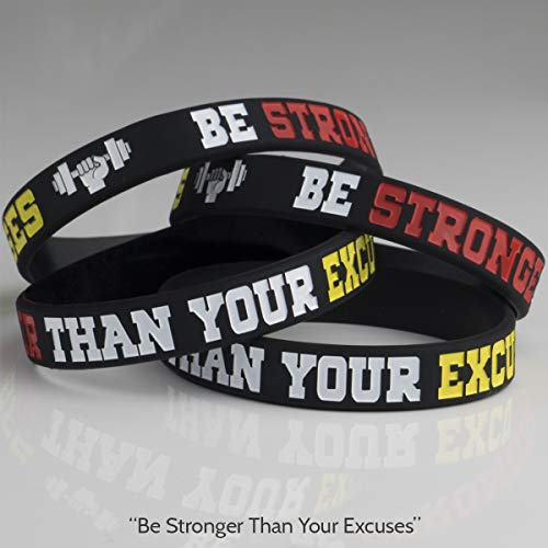 AMPM Collective | Silicone Motivational Wristbands | Rubber Inspirational Quote Bracelets | Unisex for Men Women Teens | for Daily Gym Workout Perseverance and Exercise Motivation (6 Pack) 6