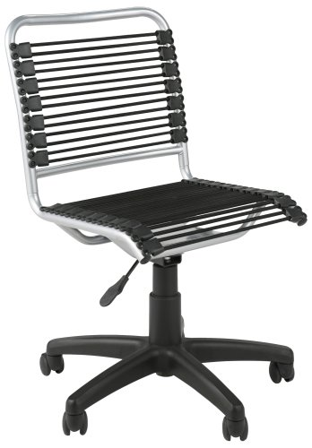 Eurø Style Bungie Low Back Adjustable Office Chair, Black B