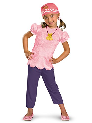 Disney Jake And The Neverland Pirates Izzy Classic Costume, Pink/Purple, Toddler size 2T -