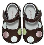 Pediped Baby Girls Polka Dot Mary Janes Shoes Giselle Brown - FREE SHIPPING