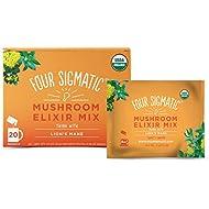 Four Sigmatic Lion's Mane Mushroom Elixir, USDA Organic, Focus, Vegan, Paleo, 20 Count