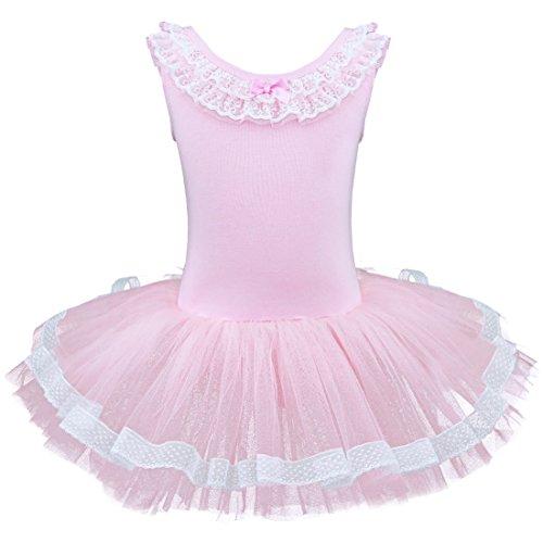 iiniim Girls Cotton Ballet Dance Gymnastics Tutu Skirt Leotard Dress