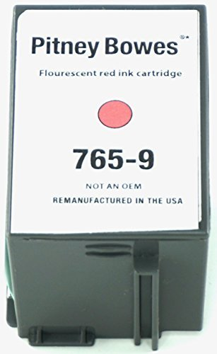 PITNEY-BOWES 765-9 FLUORESCENT RED 8,800 PAGE YIELD REPLACEMENT INKJET TONER CARTRIDGE FOR DM300C AND DM400C SERIES (Jet Cp System Ink)