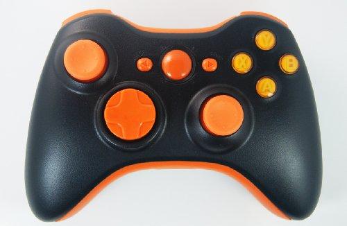 Black/Orange Xbox 360 Rapid Fire Modded Controller 35 Mode for COD BO2, BO3, Advanced Warfare, Destiny, Ghosts Drop Shot Jump Shot Quick Scope Auto Aim