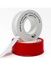 "D.N. Industrial Grade Teflon (PTFE) Thread Tape| White Plumber Tape Premium Grade| General Purpose| 1/2"" x 480"" x .003"" (0.5g/cm3)"