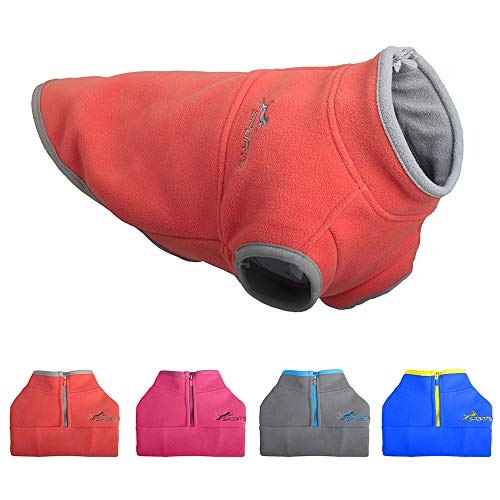 - Leepets Cold Weather Fleece Dog Vest for Small Dog Half Zip Pullover Puppy Sweater Winter Warm Coat Clothes for Dog, Orange