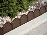 Lawn border edge, palisade, garden 10 m (Brown)