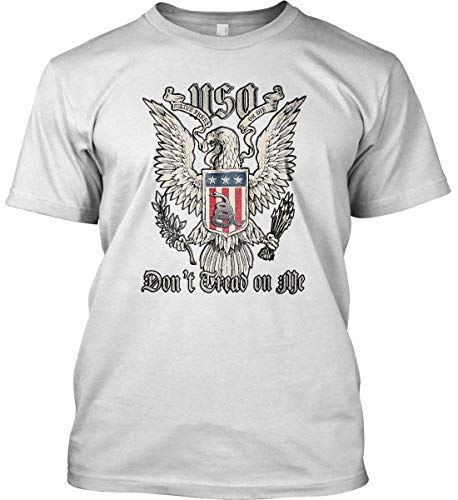 Don't Tread on Me. Eagle with Shield and RATT White/med Gildan. T-Shirt.