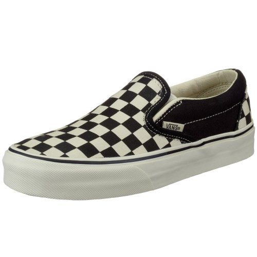 Vans VEYEBF4 U CLASSIC SLIP-ON, Unisex - Erwachsene Slip - Ons, Black/Fog Checkerboard, EU 41