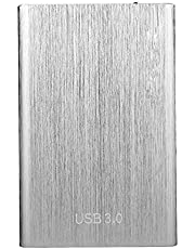 RWHXN Draagbare Harde Schijf Externe Slanke Snelle Gegevensopslag, Mobiele SSD 4TB/8TB Duurzame Schokbestendige USB3.0 Solid State Schijven Harde Schijf-8TB-Zilver