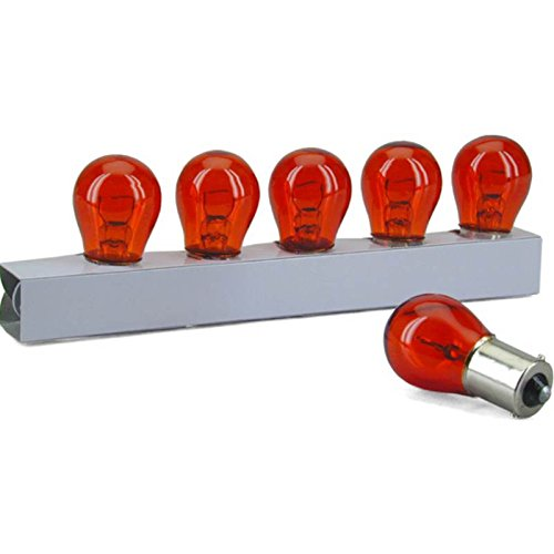 10 x LAMPADINA FRECCE FRECCIA 12V 21W BAY15S ARANCIO 10 PEZZI ORANGE AMBER BULBS ONE