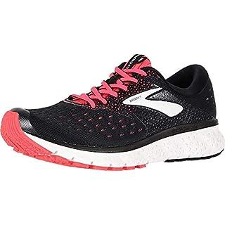 Brooks Womens Glycerin 16 Running Shoe - Black/Pink/Grey - D