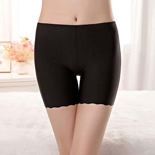 Toimothcn Women Girls Safety Pants Under Dresses Stretch Undrwear Anti-Friction Lace Shorts (Black1,M)