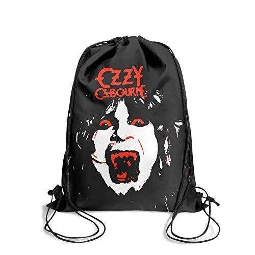 Strings Rhoads Randy - SINGKING Tote College Personalized Ozzy-Osbourn-Vampire-Randy-Rhoads- Drawstring Bags for Women & Men