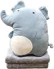 DXDE4U Zacht Panda pluche knuffelkussen 16 inch, schattig anime gooien kussen gevuld dier pop speelgoed met koraal fleece deken, meisjes jongens geschenken voor verjaardag, Valentijnsdag, Kerstmis, reizen, vakantie