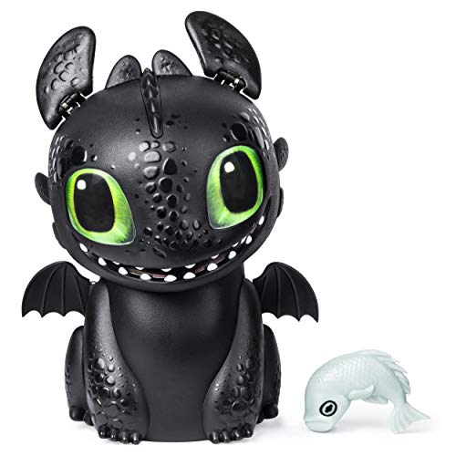 41H As2FeJL - Dreamworks Dragons, Hatching Toothless Interactive Baby Dragon with Sounds, for Kids Aged 5 & Up