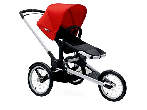 Bugaboo 2015 Runner Stroller Complete Set with Red Canopy an