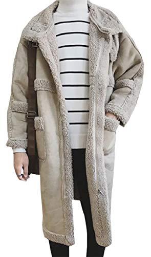 security Men Long Sleeve Trench Coat Winter Shearling Jacket Coat for Men 2