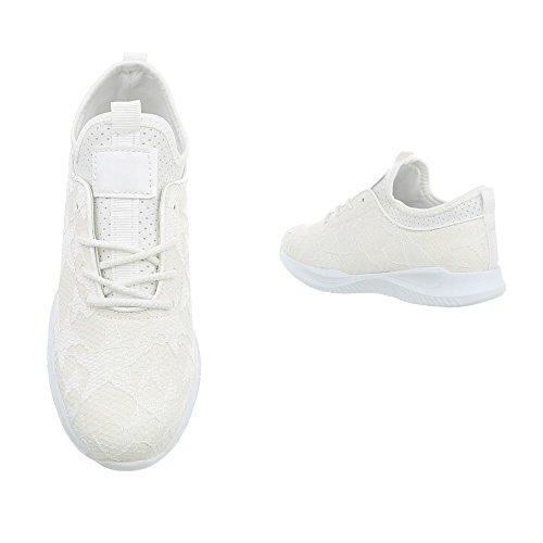 Ital-Design Baskets pour Femme Weiß rAuI8RlJ
