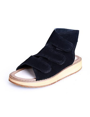ShangYi Women's Shoes Platform Platform/Comfort/Open Toe Sandals Casual Black/Beige Almond BxmYs
