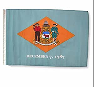 "Ruffin Flag Company Estado de Delaware 12""x18 manga poliéster jardín banderas"