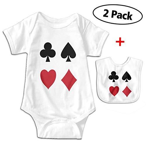 SFDHFGH Boys Girls Cotton Poker Card Short-Sleeve Newborn Romper Bodysuitoutfit with ()