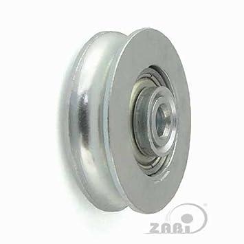 ZAB de S metal ruedas con rodamientos para puertas en tubo Ø 30 de ø89: Amazon.es: Bricolaje y herramientas