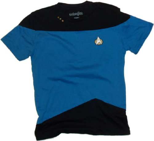 [Science Blue Paneled Uniform -- Star Trek: The Next Generation T-Shirt, X-Large] (Star Trek Uniform Shirts)