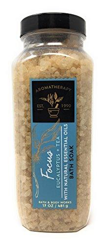- Bath & Body Works Aromatherapy 17 Ounce Bath Soak Focus Scent Eucalyptus Tea