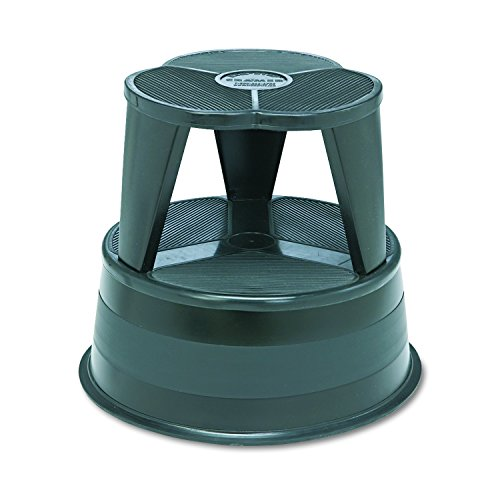 Library Step Stool - Cramer 1001-92 Kik Step Rolling Step Stool, Black