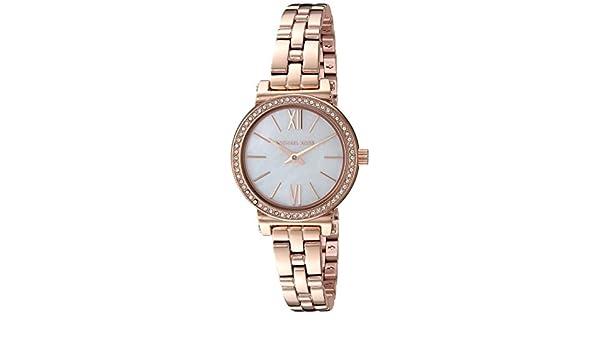 db6579ed3478 Amazon.com  Michael Kors Women s Sofie Analog-Quartz Watch with  Stainless-Steel Strap