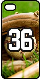 Baseball Sports Fan Player Number 36 Smoke Rubber Decorative iphone 6 4.7 Case