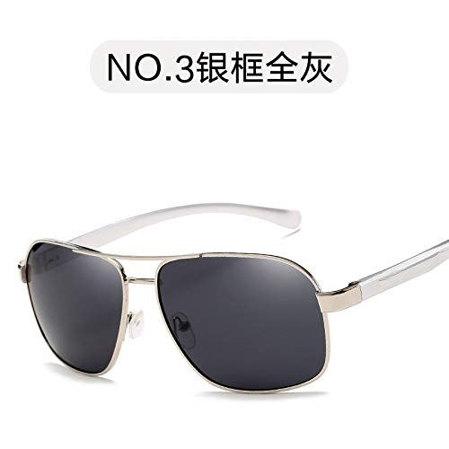Sol full clásico Completo Exterior Silver Marco Burenqiq Gafas de de Dorado de Gafas Sol Personalizado frame de conducción de para Hombre Espejo Pesca Hombre polarizado gray polarizadas Gris Espejo 4pxqO4RaS