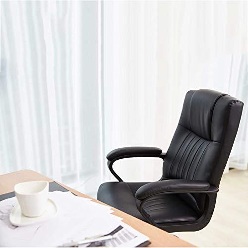 GAOPANG svängbar ergonomisk uppgift kontorsstol mitten av ryggen datorstolar justerbar svängbar faux läder vadderad skrivbordsstol, sitthöjd: 46-52 cm