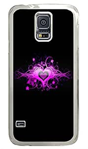 Samsung Galaxy S5 Pink Heart PC Custom Samsung Galaxy S5 Case Cover Transparent