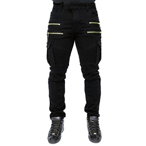 Men's Trousers Wish Men's Folding Elastic Jeans Cotton spot Trousers,Green,L by Puissant Pants (Image #3)