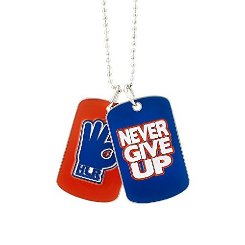 JOHN CENA ''NEVER GIVE UP'' DOG TAGS WWE AUTHENTIC MOTIVATIONAL HLR DOG TAGS by WWE Authentic