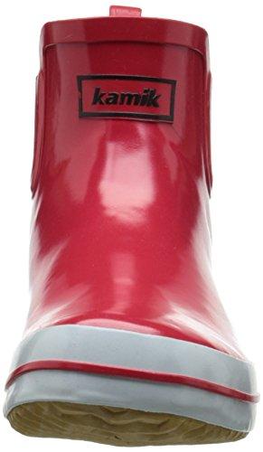 Rojo de Forradas Goma Mujer de Botas Goma caño Red SHARONLO y Red Kamik rouge de bajo Yq74BU