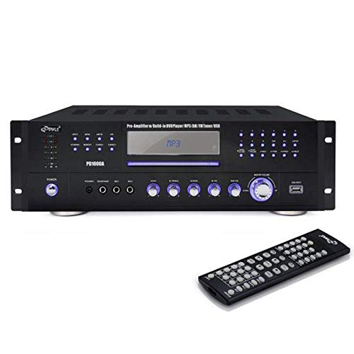 Pyle Home Theater Preamplifier Receiver, Audio/Video System, CD/DVD Player, AM/FM Radio, MP3/USB Reader, 1000 Watt (Renewed)