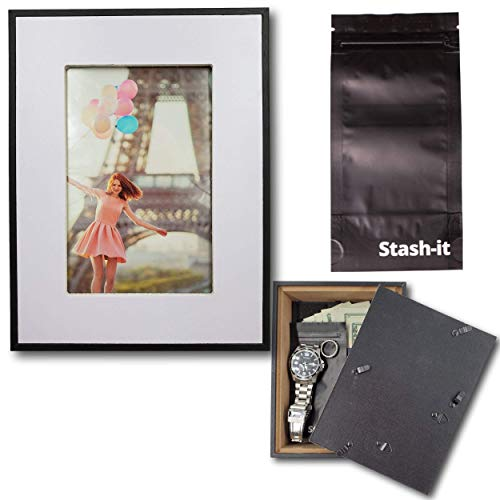 Top hidden safes for money picture frames