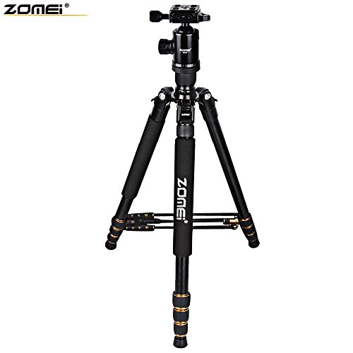SZYT Retractable aluminum alloy tripod ultralight portable SLR travel Photographic equipment by SZYT