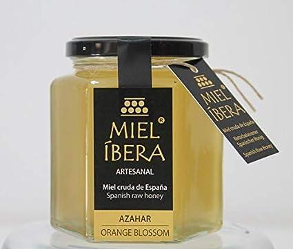 Miel de Azahar cruda de España - Artesanales - sin mezclar y sin pasteurizar - Alta calidad - distintas variedades - Gourmet (Azahar)