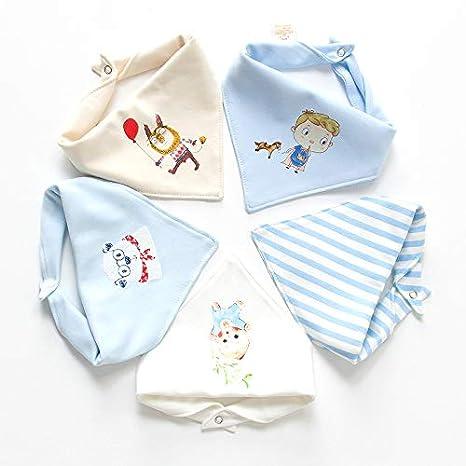 5 Pieza Baby Bandana Bibs Pañuelo Bebé Baberos Recién Nacido ...