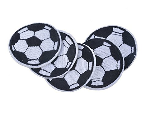Ximkee(10 Pack)Soccer Ball Embroidered Sew Iron On Applique Patches - Soccer Ball Embroidered Iron