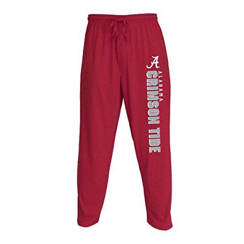 Concepts Sport Men's NCAA Knit Solid Pajama Pants with Logo-Alabama Crimson Tide-Crimson-XL Alabama Pants