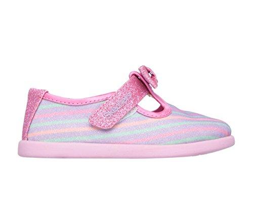 Shoe Strap Girls' T multi Pink Beauty Skechers Toddler Solestice Infant Bows wq70qT8x