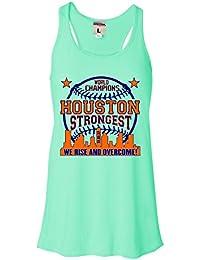 Womens Houston Strongest 2017 World Champions Flowy Racerback Tank Top T-Shirt