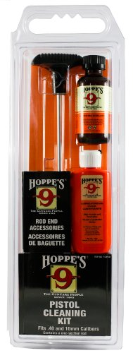 Hoppes No  9 Cleaning Kit With Aluminum Rod 40 Caliber  10Mm Pistol  Clamshell